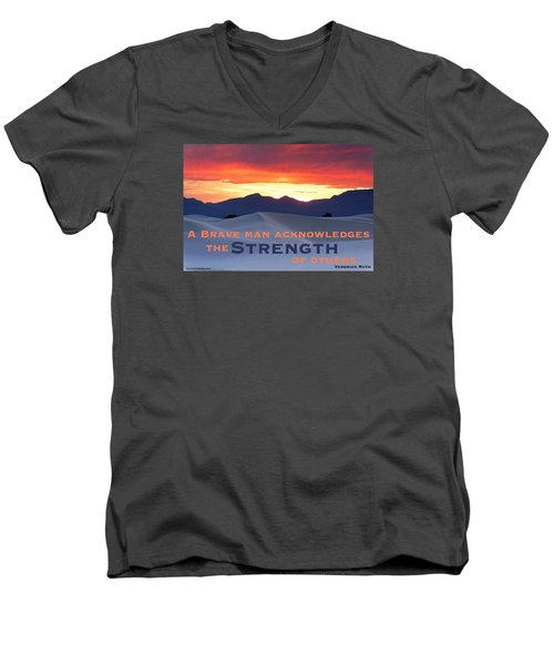 Brave Thoughts Men's V-Neck T-Shirt by David Norman