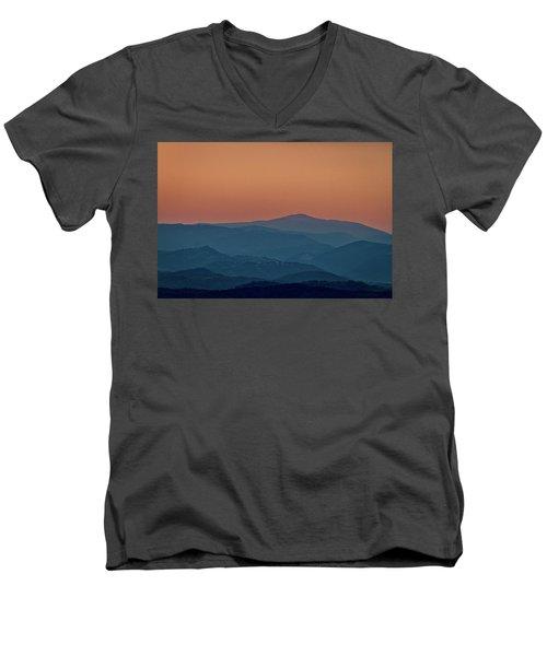 Men's V-Neck T-Shirt featuring the photograph Brda Dusk - Slovenia by Stuart Litoff