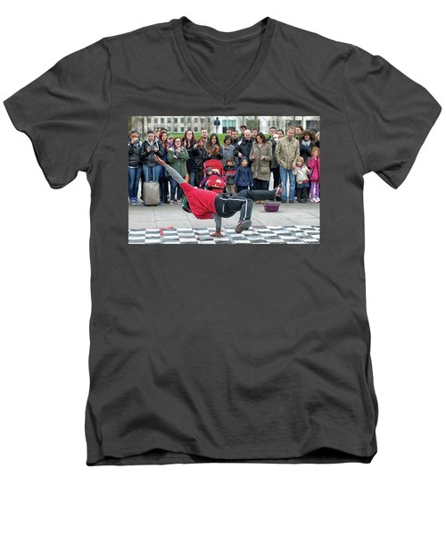 Breakdancer Men's V-Neck T-Shirt