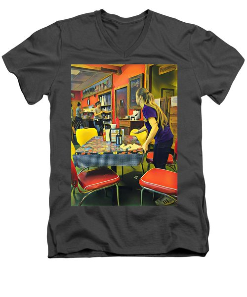 Breakfast In Wimberley Men's V-Neck T-Shirt