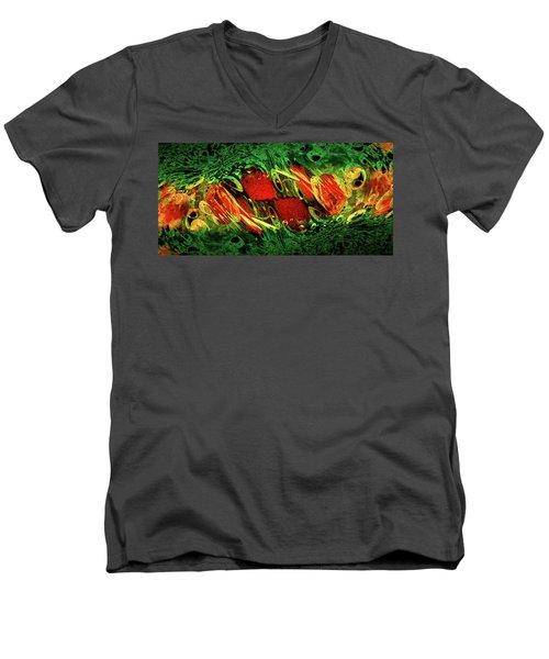Breaking Out Abstract Men's V-Neck T-Shirt