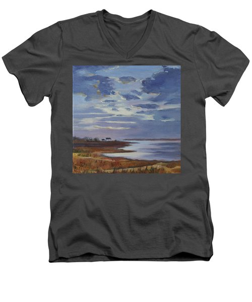 Breaking Up The Clouds Men's V-Neck T-Shirt by Trina Teele