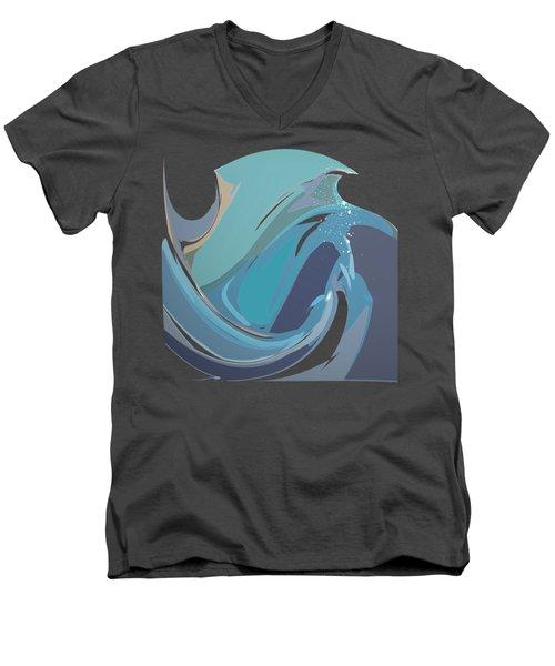 Breaking Waves Men's V-Neck T-Shirt