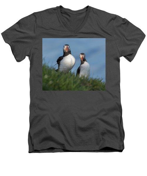 Breast Implants Humor Men's V-Neck T-Shirt