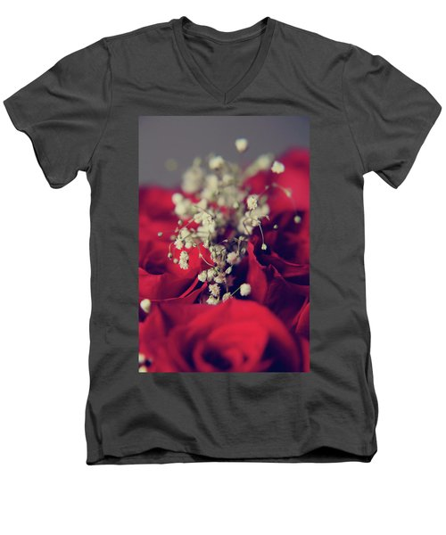 Men's V-Neck T-Shirt featuring the photograph Breath by Laurie Search