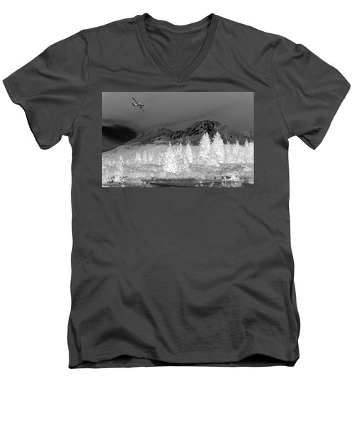 Breathtaking In Black And White Men's V-Neck T-Shirt by Joyce Dickens