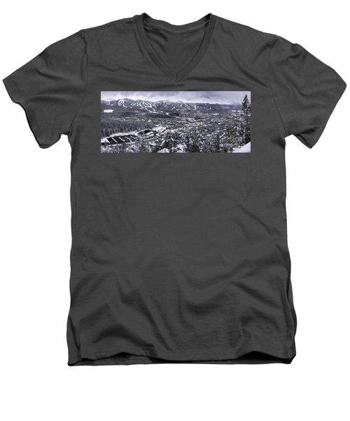 Breckenridge Ski Area Men's V-Neck T-Shirt