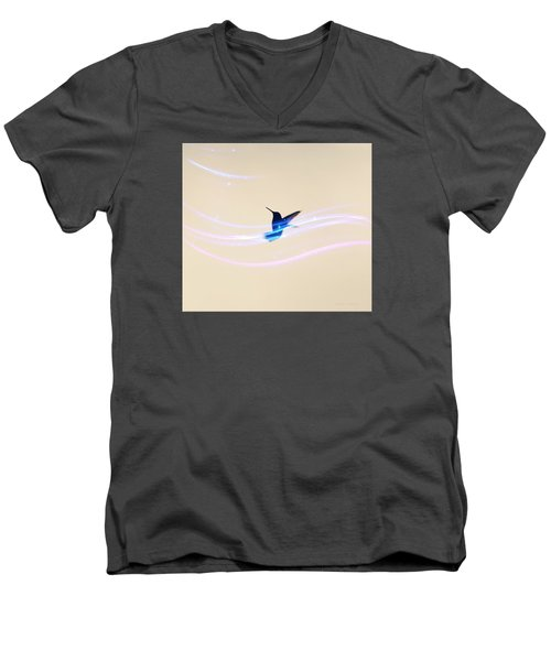 Men's V-Neck T-Shirt featuring the photograph Breeze Wings by Debra     Vatalaro