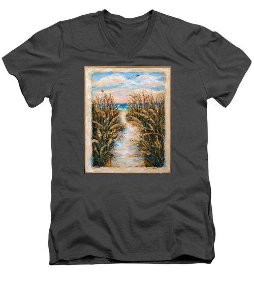 Breezy Sea Oats Men's V-Neck T-Shirt