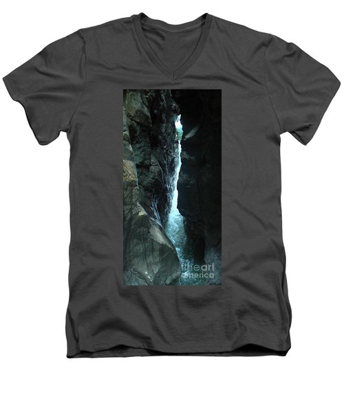 Breitach Gorge Oberstdorf 7 Men's V-Neck T-Shirt by Rudi Prott