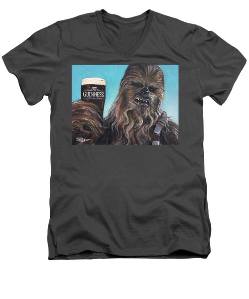 Brewbacca Men's V-Neck T-Shirt by Tom Carlton