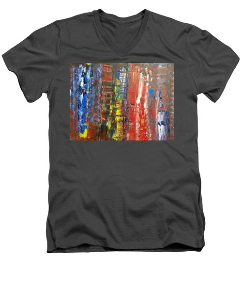 Brexzit  Men's V-Neck T-Shirt by Piety Dsilva