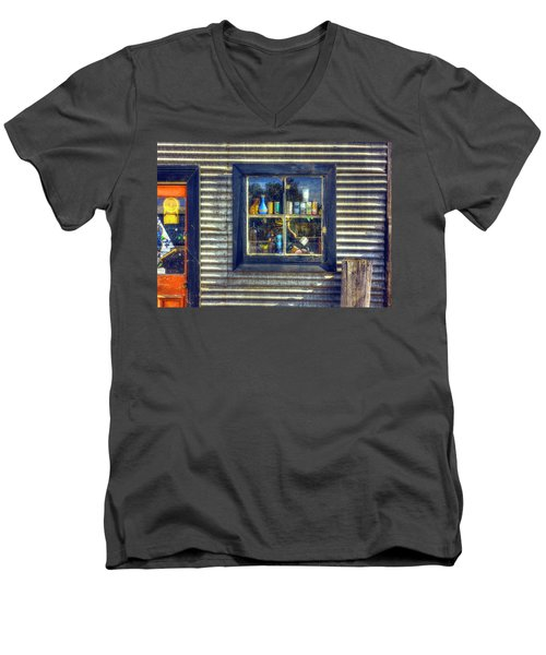 Men's V-Neck T-Shirt featuring the photograph Bric-a-brac by Wayne Sherriff