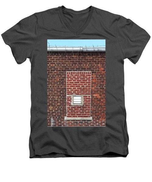 Brick And Barbed Wire Men's V-Neck T-Shirt