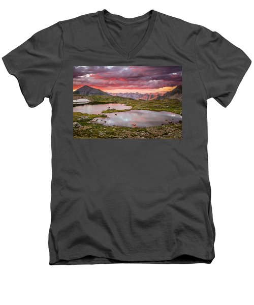 Bridal Veil Basin Men's V-Neck T-Shirt