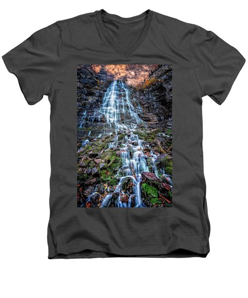 Bridal Veil Falls Utah Men's V-Neck T-Shirt