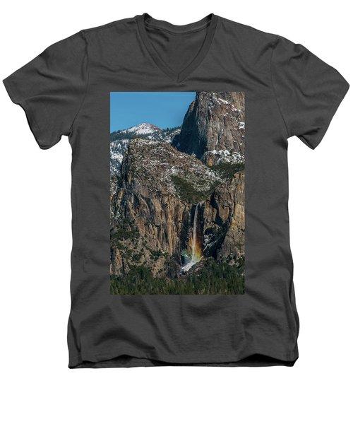 Bridal Veil Rainbow Men's V-Neck T-Shirt