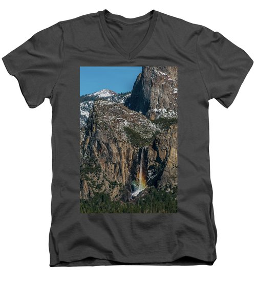 Bridal Veil Rainbow Men's V-Neck T-Shirt