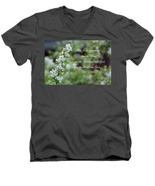Bridal Wreath Christian Art Men's V-Neck T-Shirt