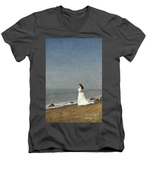 Bride By The Sea Men's V-Neck T-Shirt