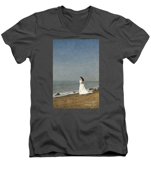 Bride By The Sea Men's V-Neck T-Shirt