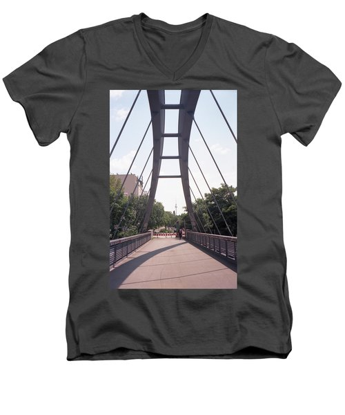 Bridge And Alexanderplatz Tower Men's V-Neck T-Shirt