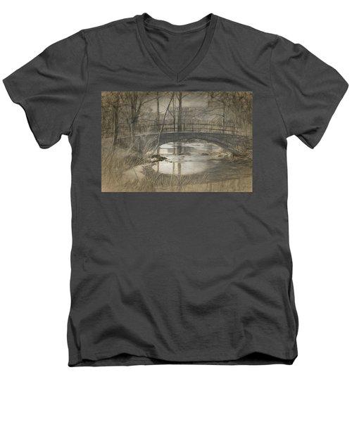 Bridge At The Fens Men's V-Neck T-Shirt