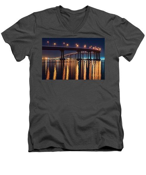 Bridge Bedazzled Men's V-Neck T-Shirt