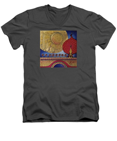 Bridge Between Sunrise And Moonrise Men's V-Neck T-Shirt
