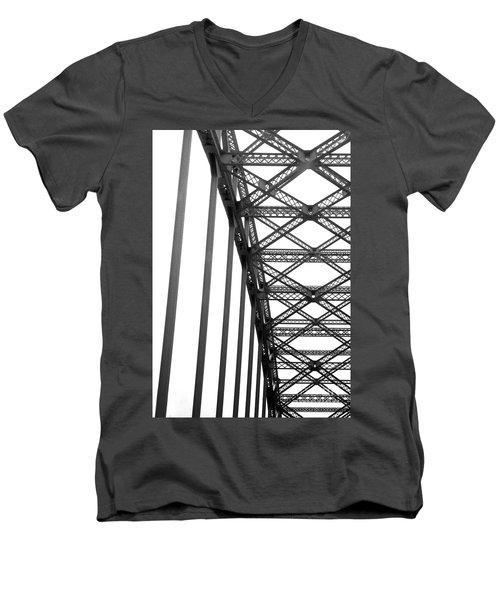 Men's V-Neck T-Shirt featuring the photograph Bridge by Brian Jones