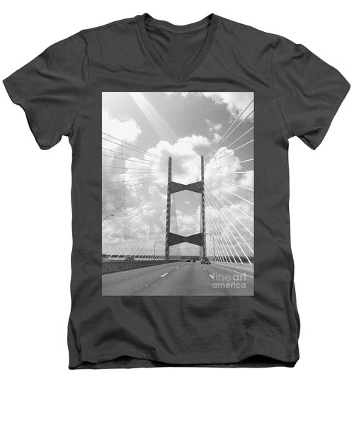 Bridge Clouds Men's V-Neck T-Shirt by WaLdEmAr BoRrErO