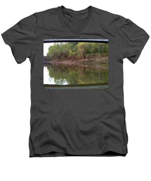 Men's V-Neck T-Shirt featuring the photograph Bridge Frame by Betty Northcutt