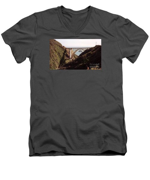 Bridge Highway 1 Coastal Road Men's V-Neck T-Shirt