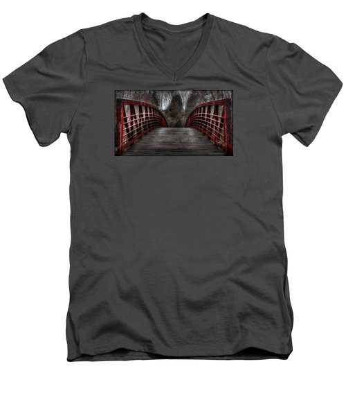 Bridge Men's V-Neck T-Shirt