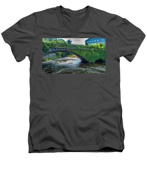 Bridge Of Flowers Men's V-Neck T-Shirt