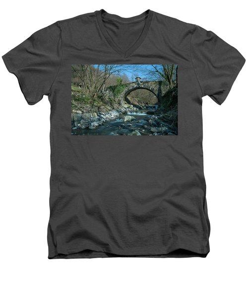 Bridge Over Peaceful Waters - Il Ponte Sul Ciae' Men's V-Neck T-Shirt