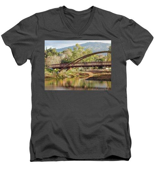 Bridge Over The Creek Men's V-Neck T-Shirt