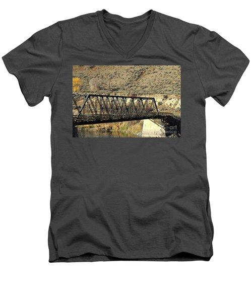 Bridge Over The Thompson Men's V-Neck T-Shirt