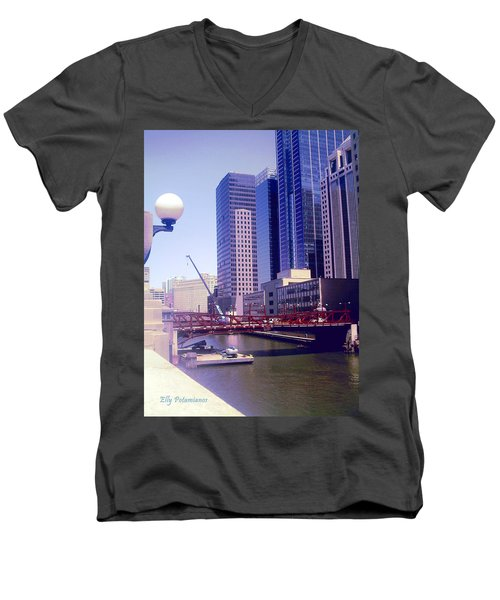 Bridge Overview Men's V-Neck T-Shirt