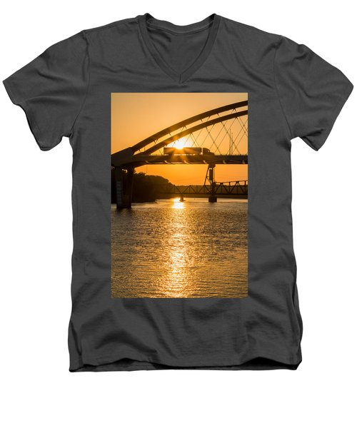 Bridge Sunrise #2 Men's V-Neck T-Shirt