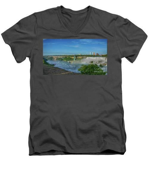 Bridge To America Men's V-Neck T-Shirt