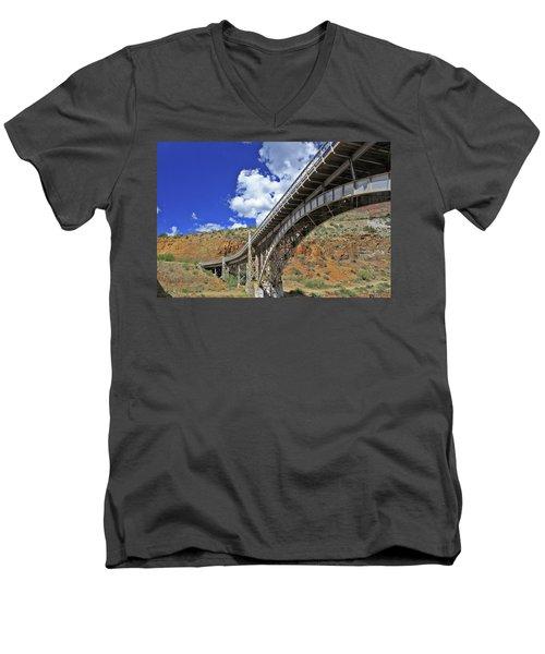 Bridge To Yesteryear Men's V-Neck T-Shirt