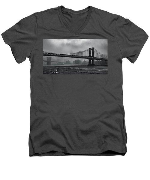 Bridges In The Storm Men's V-Neck T-Shirt