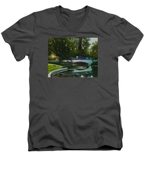 Bridges Of Forest Park V Men's V-Neck T-Shirt by Michael Frank