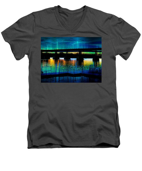Bridgescape Men's V-Neck T-Shirt
