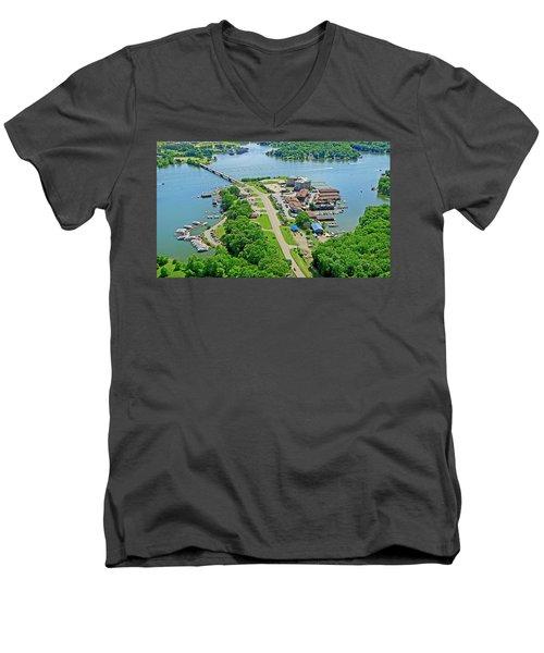 Bridgewater Plaza Aerial Men's V-Neck T-Shirt