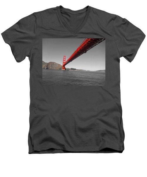 Bridgeworks Men's V-Neck T-Shirt by Douglas Barnard