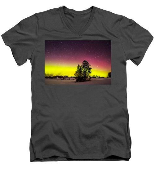 Bright Aurora Men's V-Neck T-Shirt