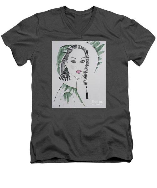 Bright Lady Men's V-Neck T-Shirt
