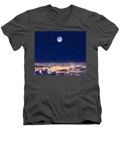 Bright Lights Big City Men's V-Neck T-Shirt